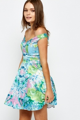 Petite Floral Tea Dress