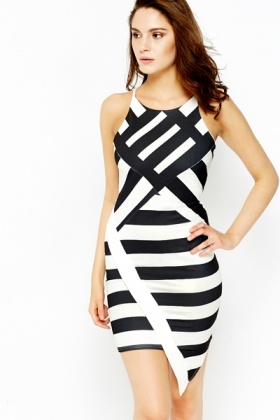 Asymmetric Monochrome Dress