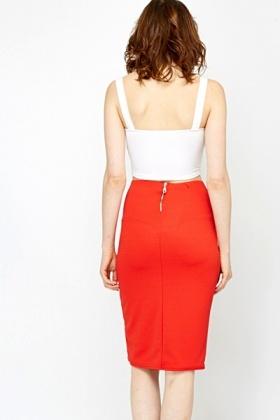 Dark Orange Pencil Skirt - Just £5