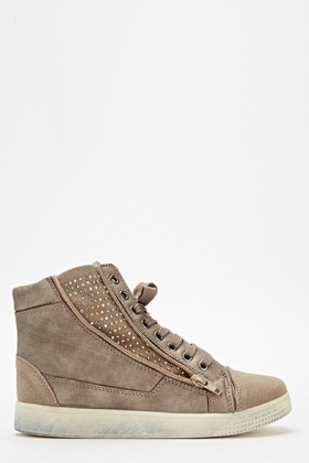 Studded Zip Detail Trainers