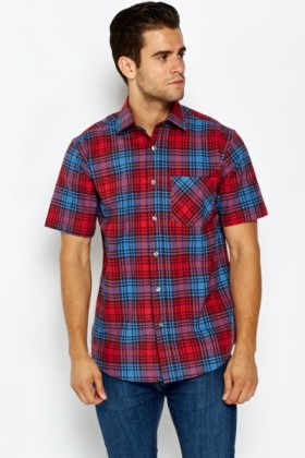 Pocket Front Red Shirt