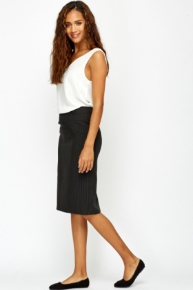 Pin Stripe Formal Skirt