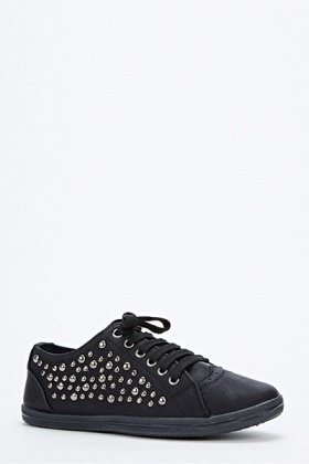 Studded Black Trainers