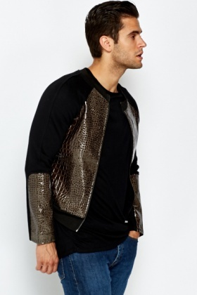PVC Mock Croc Panel Jumper