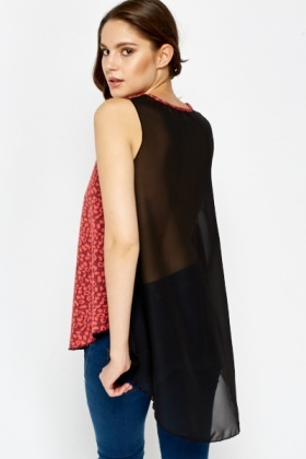 Drop Back Coral Shell Top