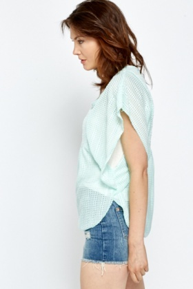 Mint Knitted Batwing Top