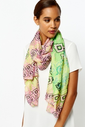 Colourful Printed Scarf