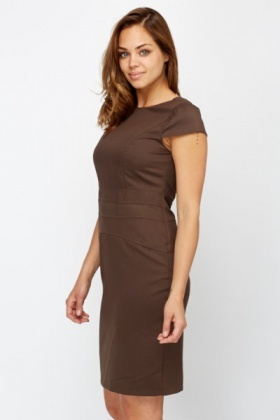 Dark Brown Sheath Formal Dress