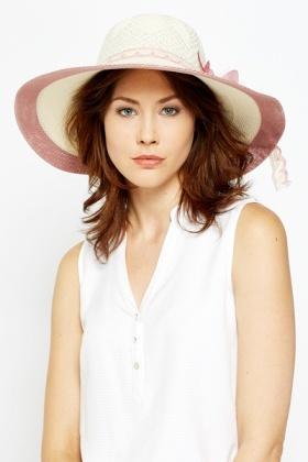 Layered Floral Sun Hat