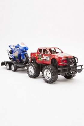 Toy Jeep And Motorbike Set