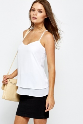 White Layered Cami
