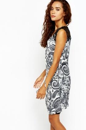 da5e336683a Grey Paisley Wrap Shift Dress - Just £5