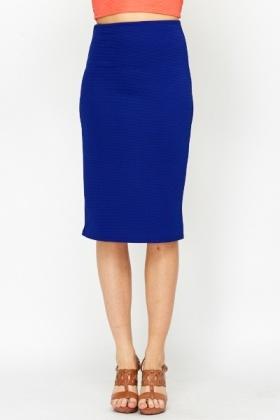 Royal Blue High Waist Pencil Skirt - Just £5