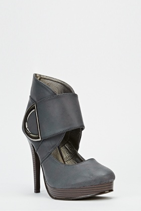 Layered Buckle Heels