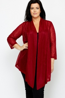 Burgundy Waterfall Cardigan - Just £5