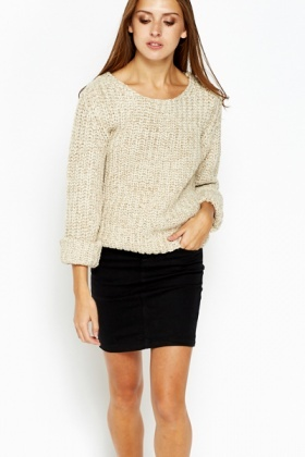 de9a2feab0 Knitted Chunky Cropped Jumper - Just £5