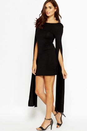 7be7562a8465 Split Long Sleeve Bodycon Dress - Just £5