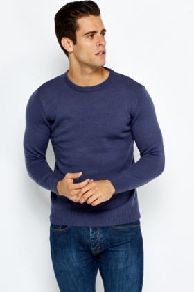 Round Neck Knit Jumper