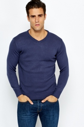 V-Neck Casual Jumper