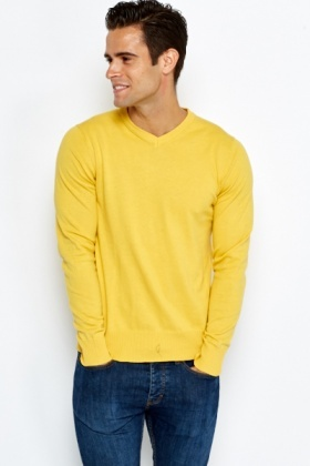 V-Neck Casual Knit Jumper