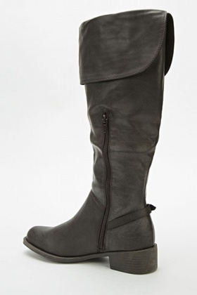Overlay High Knee Boots