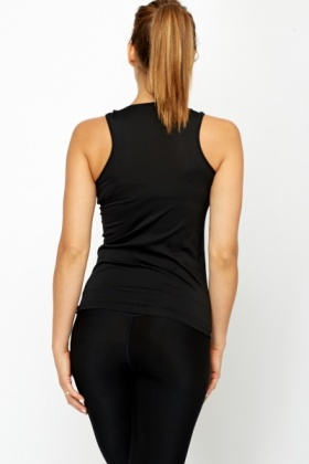 Dotted Back Black Sports Top