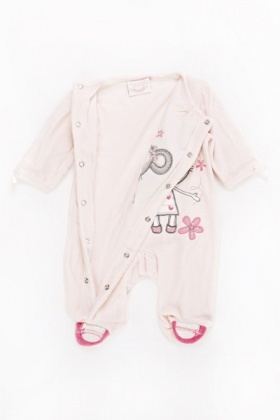 Light Pink Mouse Baby Grow