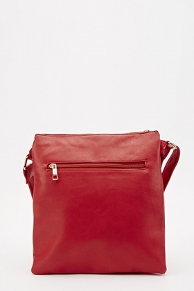 Simple Faux Leather Crossbody Bag