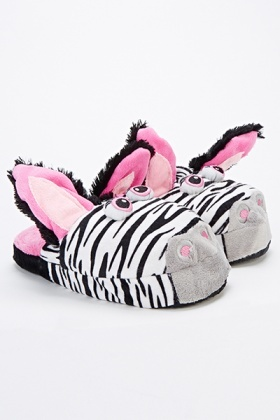 Zebra Slippers