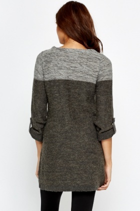 Longline Knit Pocket Jumper