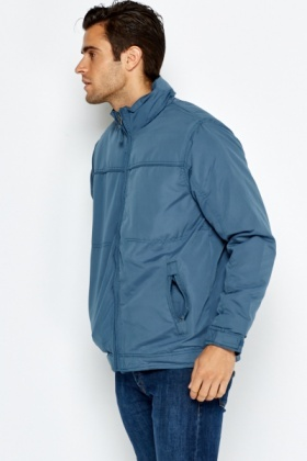 Padded Teal Zip Up Jacket