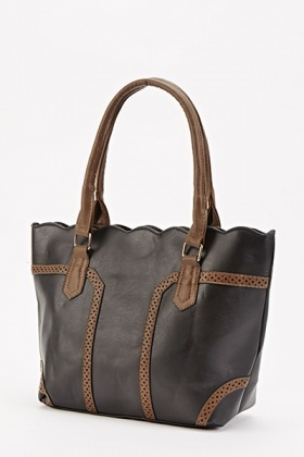 Scallop Top Contrast Bag