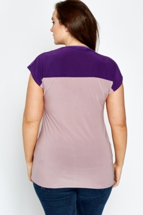 Purple Colour Block Top