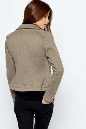 Cotton Blend Soft Taupe Jacket