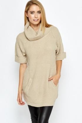 Short Sleeve Roll Neck Jumper - Just £5 d42f18c63