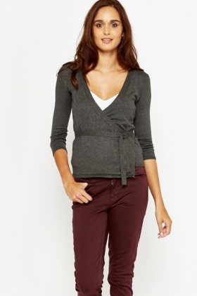Cotton Wrap Cardigan