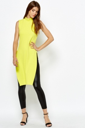 High Neck Neon Lime Top