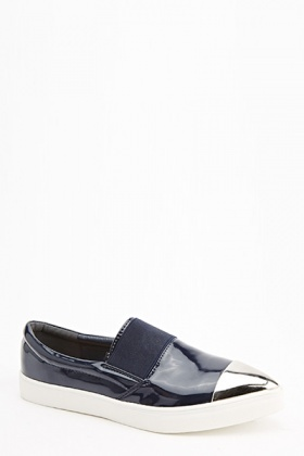 PVC Metallic Point Slip On Shoes