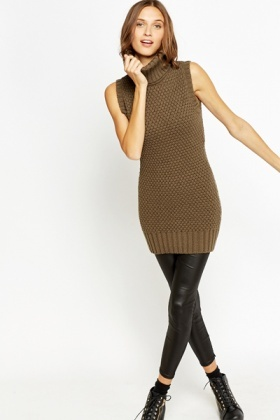 Roll Neck Knitted Jumper