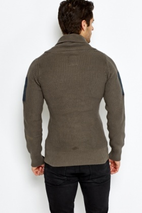 Knitted Patch Jumper