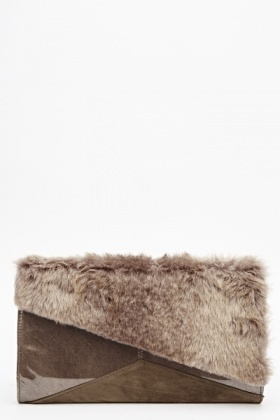Faux Fur Insert Clutch