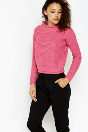 High Neck Casual Jumper