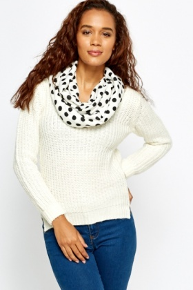 Polka Dot Snood Scarf