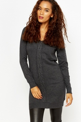 Longline V-Neck Jumper