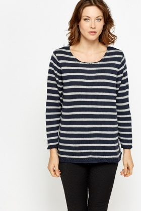 Oversized Striped Nautical Jumper