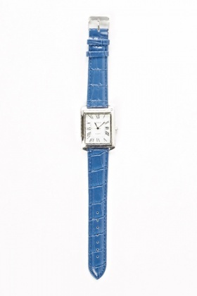 Blue Thin Strap Watch