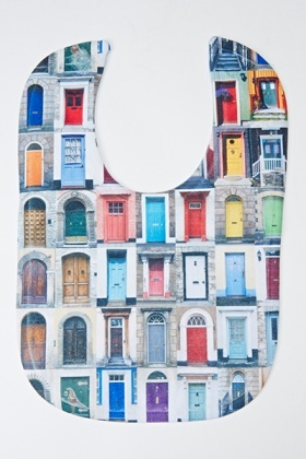 Colourful Door Print Bib