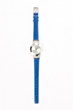 Diamante Blue Strap Watch