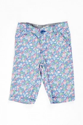 Kids Blue Floral Trousers