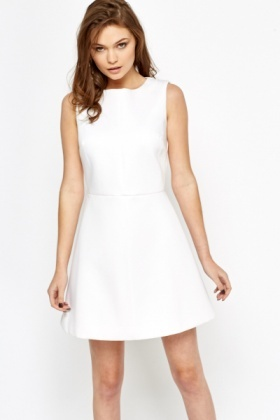Off White Skater Dress